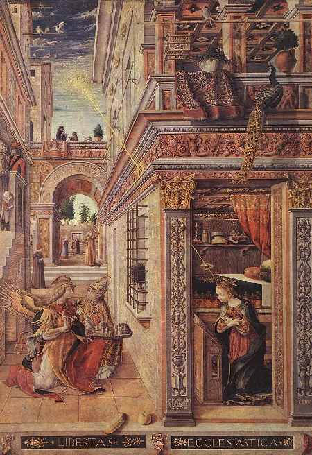 Annonciation par Crivelli